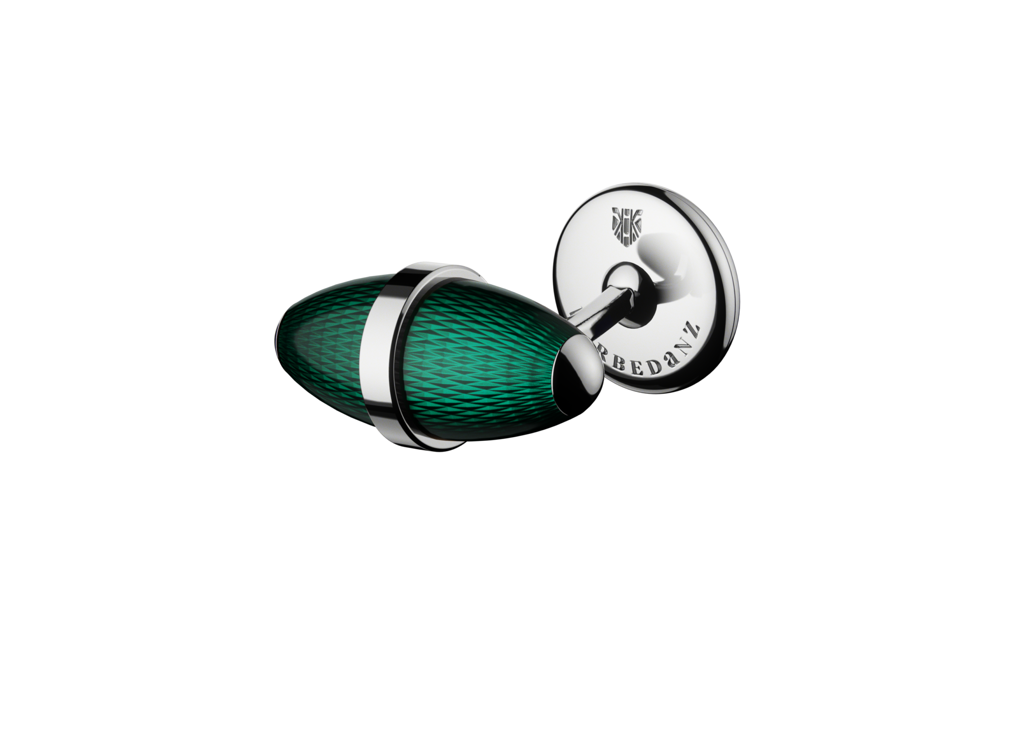 kerbedanz_Cufflinks_Ogive_TURQUOISE_FACE_Stainless-steel